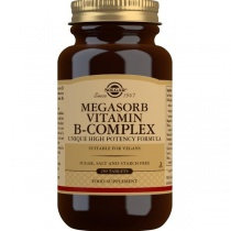 Solgar Megasorb Vitamin B-Complex High Potency Tablets - Pack of 250
