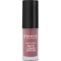 Benecos Natural Matte Liquid Lipstick Rosewood Romance  5ml