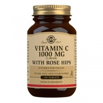 Solgar Vitamin C 1000 mg with Rose Hips Tablets - Pack of 100