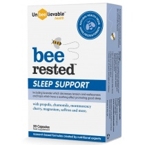 Unbeelievable Bee Rested 20 Capsules