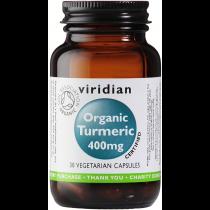 Viridian Organic Turmeric 400mg Veg Caps 30caps