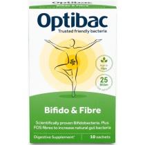OptiBac Probiotics Bifidobacteria & Fibre 10 Sachets