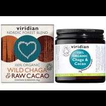 Viridian Organic Wild Chaga & Raw Cacao 30g Powder