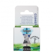 Yaweco Interdental Refill Brushes Large 2.3mm Pack of 7 (Black)