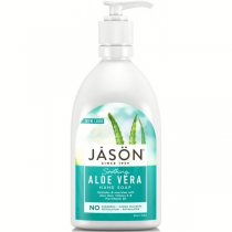 Jason Aloe Vera Satin Soap with pump for Face and Hands 473ml