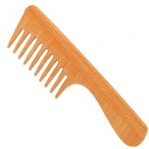 Forsters Wide Tooth Wooden Comb, Beech Wood, with Handle