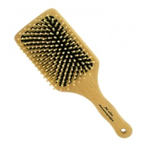 Forsters Beech Wood Paddle Brush With Round Wooden Pins ,Large Square