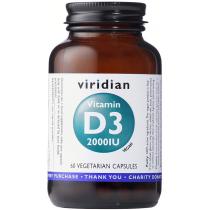 Viridian Vitamin D3 2000iu Veg Caps 60caps