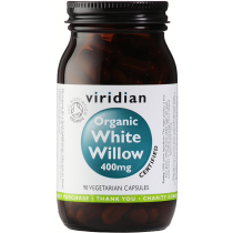 Viridian Organic White Willow 400mg Veg Caps 90caps