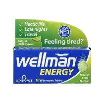 Vitabiotics Wellman Energy 10 Lime Flavour Effervescent Tablets