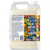 Faith in Nature Grapefruit & Orange Shower Gel & Foam Bath 5000ml