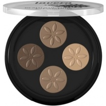 Lavera Trend Mineral Eyeshadow Quattro Cappuccino Cream 02, 4 x 0.8g