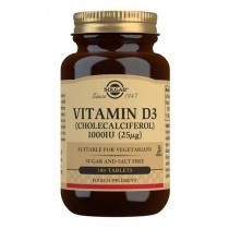 Solgar Vitamin D3 (Cholecalciferol) 1000 IU (25 mcg) Tablets - Pack of 180