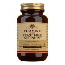 Solgar Vitamin E with Yeast Free Selenium Vegetable Capsules - Pack of 50