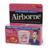 Airborne Effervescent Tablets with Vitamin C Pink Grapefruit 10 tabs