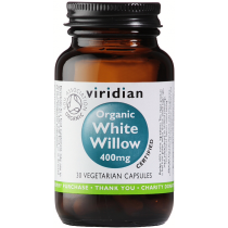 Viridian Organic White Willow 400mg Veg Caps 30caps