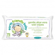 Earth Friendly Baby Gentle Aloe Vera Wet Wipes 72 Wipes
