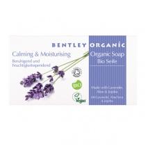 Bentley Organic Calming and Moisturising Soap Bar with Lavender, Aloe and Jojoba 150g