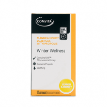 Comvita Winter Wellness  Propolis Lozenges - Lemon & Honey 12 lozenges