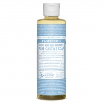 Dr.Bronner's Castille Unscented Baby Mild Liquid Soap 236ml