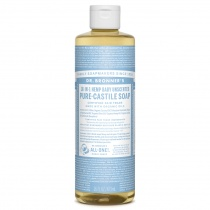 Dr.Bronner's Castille Unscented Baby Mild Organic Liquid Soap 472ml