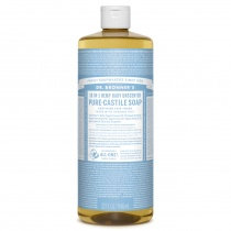 Dr.Bronner's Castille Unscented Baby Mild Organic Liquid Soap 946ml