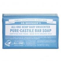 Dr.Bronner's Castille Unscented Baby-Mild Organic Soap Bar 140g