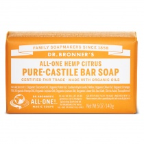 Dr.Bronner's Castille Citrus Orange Organic Soap Bar 140g
