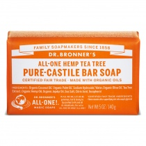 Dr.Bronner's Castille Tea Tree Organic Soap Bar 140g