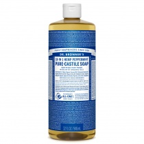 Dr.Bronner's Castille Peppermint Organic Liquid Soap 1 litre