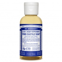 Dr.Bronner's Castille Peppermint Liquid Soap 59ml