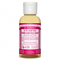 Dr.Bronner's Castille Rose Liquid Soap 59ml