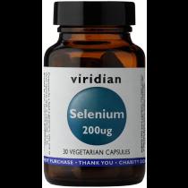 Viridian Selenium 200ug Veg Caps 30caps