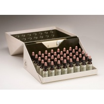 Bach Original The complete professional set of 10ml flower remedies comes in a rather nice sturdy carboard box.