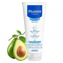 Mustela 2 in 1 Cleansing Gel Hair and Body Wash 200ml