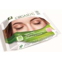 Organyc Organic Face Wipes - Box of 20