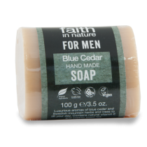 Faith in Nature For Men Blue Cedar Soap 100g