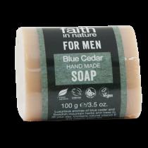 Faith in Nature For Men Blue Cedar Soap 100g