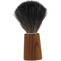 Forsters Wooden Shaving Brush in Pine Tree Finland, Black Fibre Synthetic Vegan Bristles