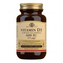 Solgar Vitamin D3 (Cholecalciferol) 600 IU Vegetable Capsules - Pack of 60