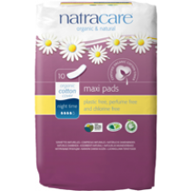 Natural Maxi Pads Night-time 10's
