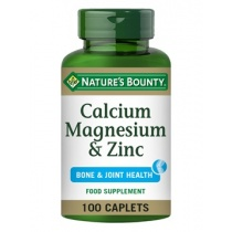 Nature's Bounty  Magnesium & Zinc 100 Coated Caplets