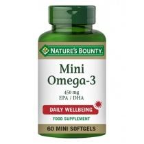 Nature's Bounty Mini Omega-3 450 mg EPA/DHA 60 Softgels
