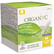 Organyc Compact Applicator Tampons Regular - Box of 16