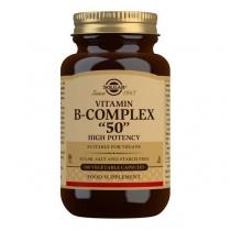 Solgar Vitamin B-Complex ''50'' High Potency Vegetable Capsules - Pack of 100