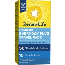 Renew Life Florabiotic Everyday Plus Travel 50Bn 14 Capsules