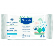 Mustela BIO Organic Cotton With Water Wipes x60