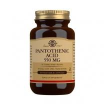 Solgar Pantothenic Acid 550 mg Vegetable Capsules - Pack of 50