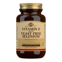 Solgar Vitamin E with Yeast Free Selenium Vegetable Capsules - Pack of 100