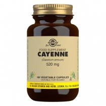 Solgar Cayenne 520 mg Vegetable Capsules - Pack of 100